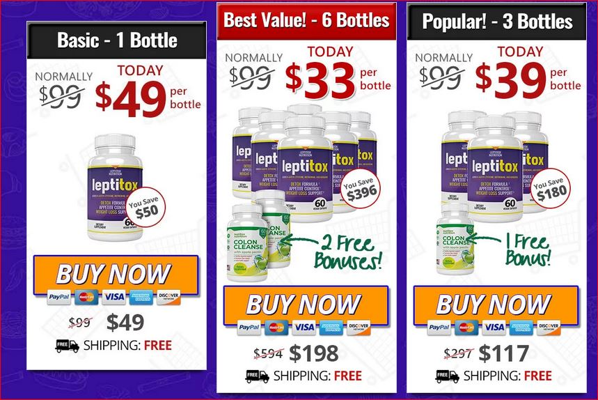 Buy Leptitox  Weight Loss Deals June